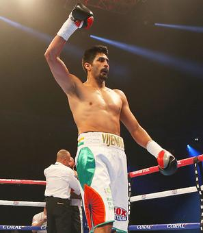 Vijender clinches fourth successive pro-boxing win