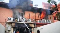 Fire engulfs bank in Vaishali Nagar