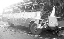 5 charred to death as bus catches fire