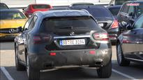 Mercedes-Benz GLA facelift spied in parking lot, likely to debut in 2017
