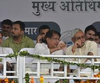Nitish Kumar attends Ajit Singh rally