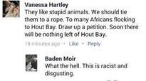 Hartley blames post on 'joker'