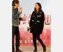 Tang Wei promotes theme song of Finding Mr. Right 2