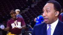 Cavaliers dancers masterfully videobombed Stephen A. Smith on live TV