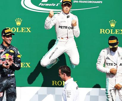 Belgian GP: Rosberg eases to victory, Hamilton third