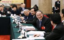 Wang Qishan joins group deliberation of NPC deputies from Liaoning Province