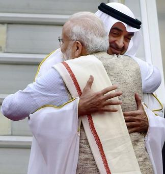 PM Modi receives R-Day parade chief guest Crown Prince of Abu Dhabi