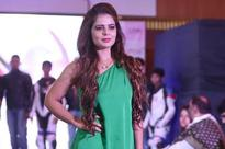 Alisha kept it simple and classy at the launch of her racing academy party at GRT in Chennai