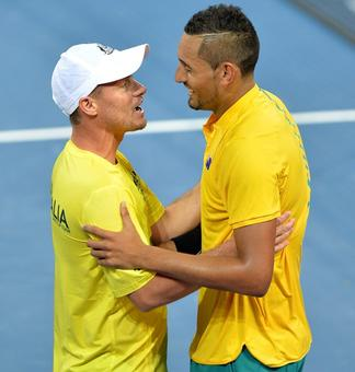 Davis Cup: Kyrgios, Thompson give Australia a perfect start