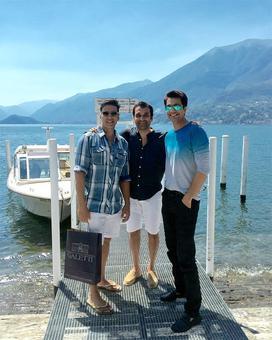 Akshay, Asin holiday in Italy!