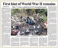 More WWII remains in Arunachal
