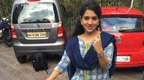#BMCElections: BJP leader Shaina NC rides bicycle to polling both; casts vote