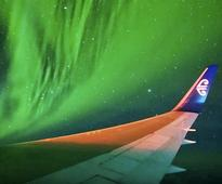 Airline Passengers Get A Spectacular Show Flying Through Southern Lights
