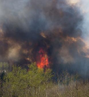 Over 80,000 evacuated as 'nasty' Canadian wildfire consumes entire city