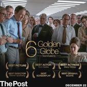 Steven Speilberg`s `The Post` receives 6 Golden Globe Nominations!