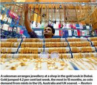 Dubai-to-Turkey gold rush triggers jump in premiums