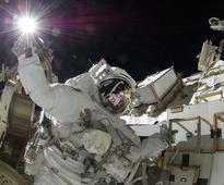 Astronauts Take Stellar Selfie During Historic Spacewalk