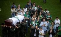 Brazil mourns Chapecoense crash victims at packed stadium wake