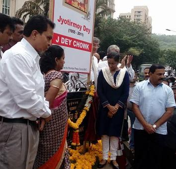 Murdered investigative journalist J Dey immortalised with chowk in Powai