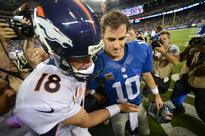 Peyton and Eli Manning play 'Knockout' exactly how you'd expect them to