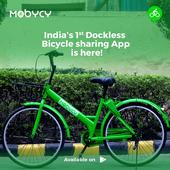You can now rent dockless bicycles in Delhi/NCR using Mobycy [Uber for Bicycles]