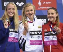 Meilutyte relives golden moment in London Olympic pool