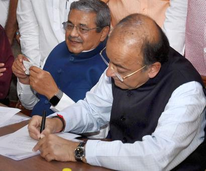 Jaitley, Prasad, scribe Kumar Ketkar file nominations for RS polls
