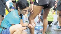 In a first, marathoners skip stay in hospital