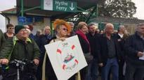 Hampshire's Hythe Ferry service protest held