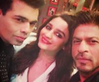 SRK, Alia Bhatt shoot for premiere episode of Koffee With Karan 5, share pic