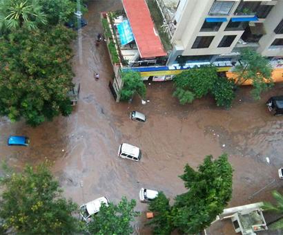 WATCH: Flood waters wash away cars in Mumbai's Shantivan