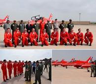 Red Arrows perform aerobatics over Karachi skies