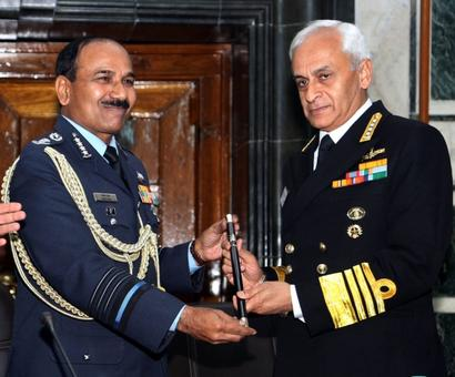 Admiral Lanba takes over baton of chairman of CoSC