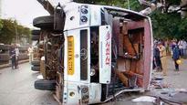 One dead, 35 injured as luxury bus topples over near Dadar TT circle