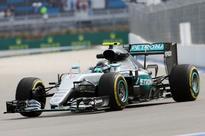 Rosberg tops slippery FP1 as Aeroscreen makes bow