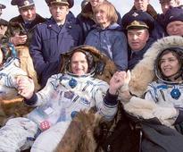 October 31, 2001: First European woman returns from space station
