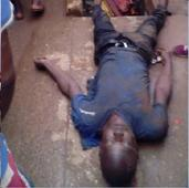 Photo: Danfo Driver Allegedly Beaten to Death While Refusing Policeman Bribe