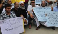 Protests in Srinagar against attack on Amarnath pilgrims