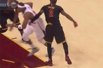 Kyrie Irving issued a flagrant foul after frustratedly punching Paul Pierce in the side