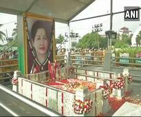 Jaya death anniversary: Black-clad EPS,OPS lead silent march