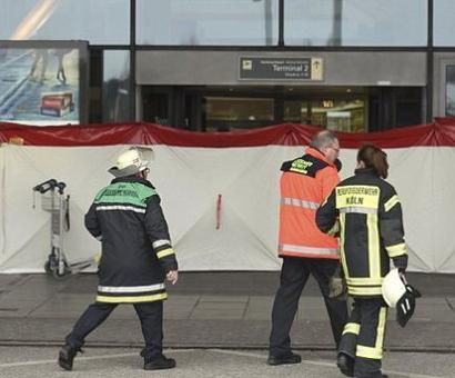 Hamburg Airport evacuated 'after a gas leak in the terminal leaves 50 people in hospital'