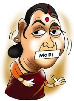 Why is Sushmaji silent on NaMo?