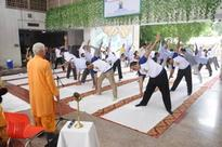 International Yoga Day Celebrated in Environment Ministry