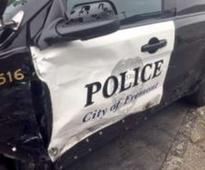 Stolen van rams police car, 2 Fremont men arrested
