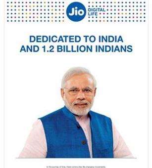 Rel Jio uses Modi as brand ambassador, draws flak