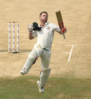 Warner's century gives Australia upperhand on Day 3