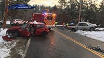 Pregnant woman seriously hurt in 2-car crash