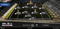 Starting line-ups: Newcastle v Swansea