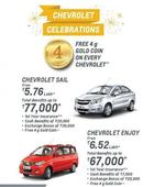 Upto Rs 1.12 lakh Benefits On Chevrolet Cars This Festive Season