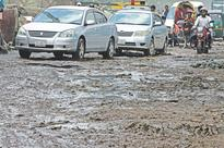 Road left in battered condition